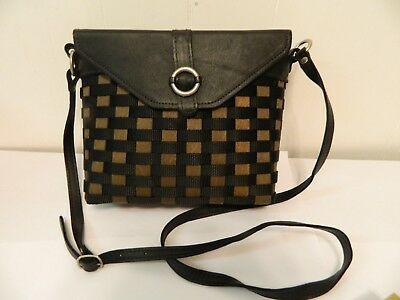 2009 Longaberger To Go Buckle Bag Basket Cross Body Purse Wood/Leather/Nylon