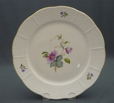 "Herend Porcelain Passion Flower FLOWERS of BERMUDA Hand Painted 9"" Lunch Plate"