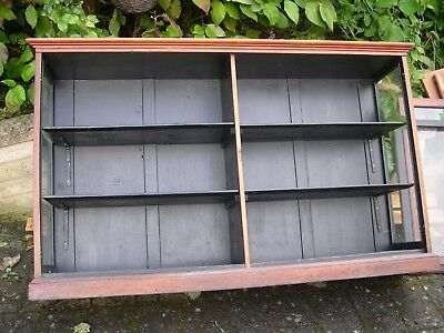 Commercial Glass Fronted Display Cabinet / Shelf / Vintage Storage / Shop