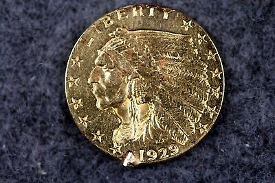 Estate Find 1929 - 2 1/2 Dollars Indian Head Gold!!!! #H2255
