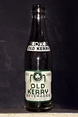 Rare Rare Old Kerry 7 Ounce Acl Soda Bottle In Near-Mint Condition