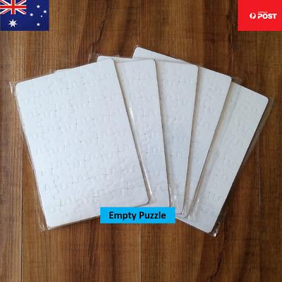 5 X Heat transfer Sublimation blank jigsaw puzzles DIY print Aussie Seller