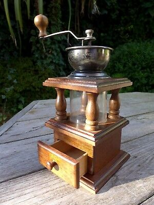 Vintage Wooden Mill Grinder retro shabby farm shop pub collector decoration
