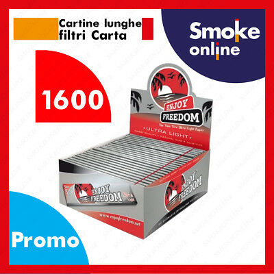 Enjoy Freedom Slim King Size Silver Lunghe 1600 Cartine + Accendino