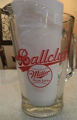 "Miller High Life ""The Ballclub"" Beer Glass Pitcher New"