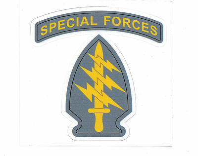 Special Forces (Us)  Die Cut Laminated Advertising Vinyl 100Mm High