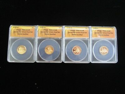 2009 1c Lincoln Cent 4-Coin Proof Set ANACS PR69 DCAM PRICED TO SELL NO RESERVE