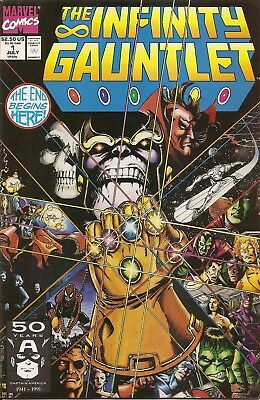 The Infinity Gauntlet #1 (July, 1991 - Marvel) VF+