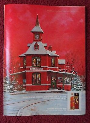 1981 Print Ad Johnnie Walker Red Label Scotch Whisky ~ Somerset Train Station