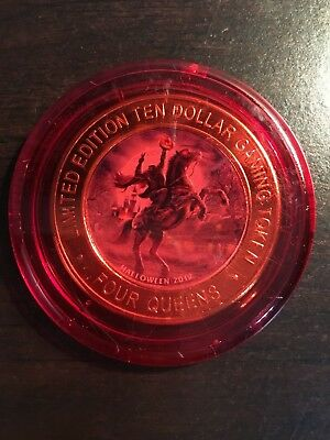 Four Queens Red Capsule Silver Strike Coin Halloween 2012 Very Rare!!!!