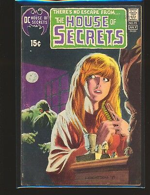 House of Secrets # 92 - 1st Swamp Thing & Wrightson cover VG+ Cond.