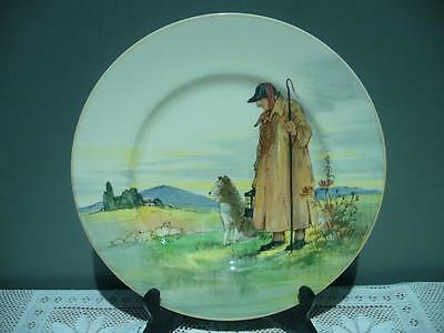 Vintage Royal Doulton England 'cotswold Shepherd' Rack Plate  -  Good Condition