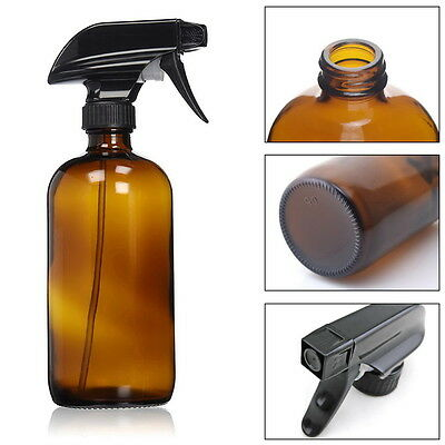 2X500MLAmber  Glass Spray Bottle With Trigger Sprayer Perfect for Essential Oil