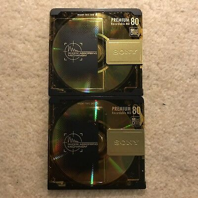 Sony minidisc x2 and Official Sony 5 Disc Holder