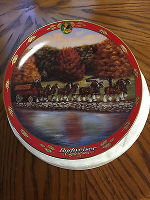SUSIE MORTON Budweiser Pride Clydesdale Wagon AUTUMN MARCH Plate # A7778