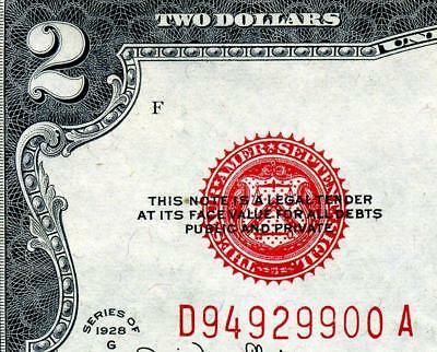 HGR 1928G $2 U.S.Note ((RED Seal)) Appears Near UNCIRCULATED