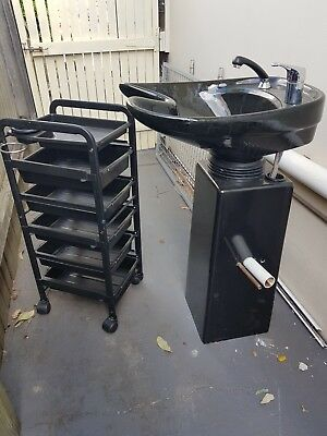 hairdressing basin and trolley