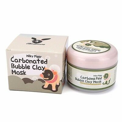 Milky Piggy Carbonated Bubble Clay Mask Face Deep-Cleansing Pore Skin Care 100g