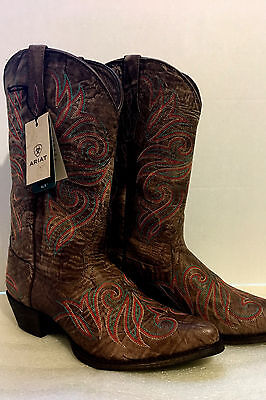NWT Ariat Women's Size 8 Embroidered Premium Leather Western Cowgirl Boots
