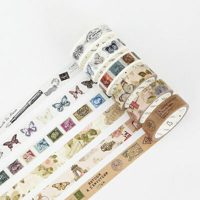 Vintage Retro Gothic Age Washi Masking Tapes Scrapbook DIY Home Decoration Craft