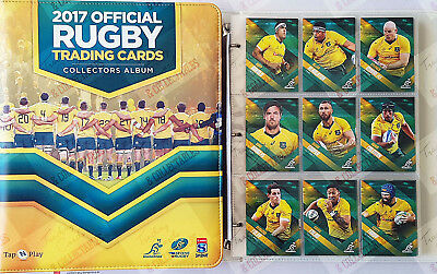 2017 Tap N Play rugby union ARU Super Rugby Wallabies complete set ~ 185 cards