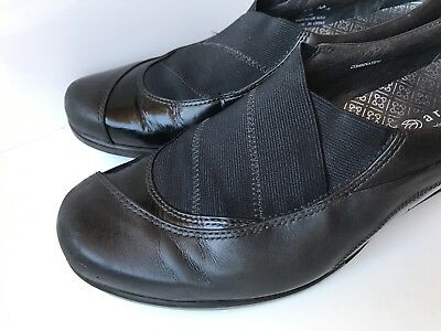 ARAVON by New Balance Black Leather Slip On Loafers Womens US Size 8.5 Flats