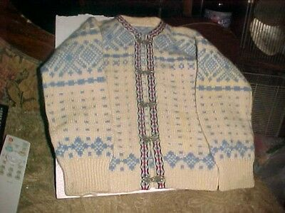 unisex childs norwegian wool sweater vintage  Early 70's