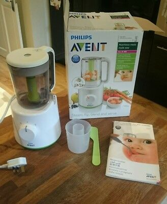 Philips Advent combined baby food steamer blender SCF870/21 Great condition