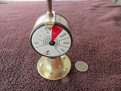 NAUTICAL THERMOMETER TELEGRAPH MCM Ship's Engine Telegraph 4""
