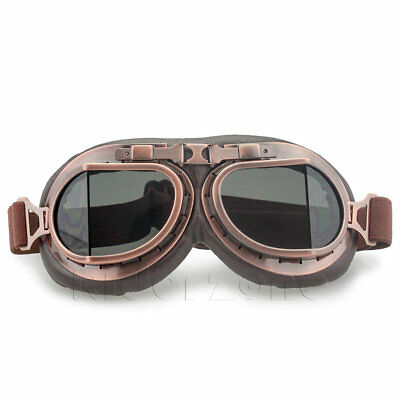 Motorcycle Retro Vintage Pilot Aviator Goggles For Harley Racer Cruiser Scooter