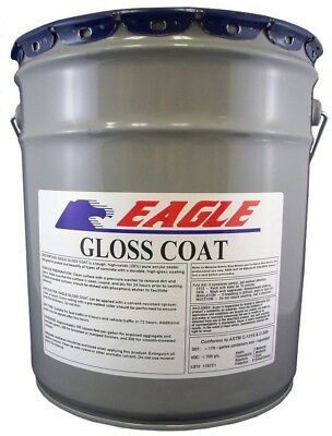 Eagle 5 Gal. Gloss Coat Clear Wet Look Solvent-Based Acrylic Concrete Sealer