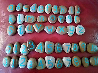 Alphabet & number stones - education/childminding/pre-school toys/counting