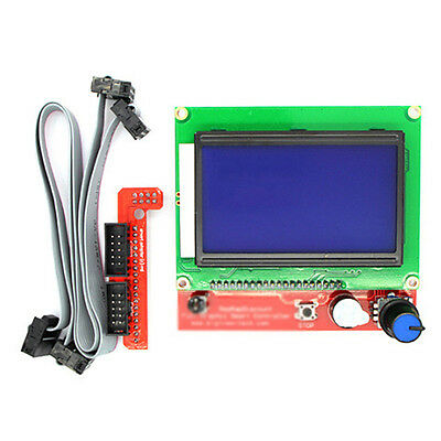 3D Printer RAMPS1.4 12864 LCD Display Controller + Smart Adapter 2 * FC Cable US