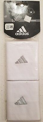 Adidas Wristband 2 Pack White
