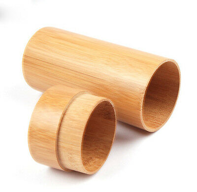New Sunglasses protected box case Natural Handmade Bamboo wooden cylinder