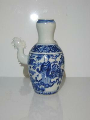 Stunning Chinese Blue & White Porcelain Wine Pot