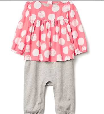 dfe8446d4854 BABY GAP GIRL DISNEY BABY DUMBO SHIRRED DOUBLE-LAYER ONE-PIECE NWT 0 ...