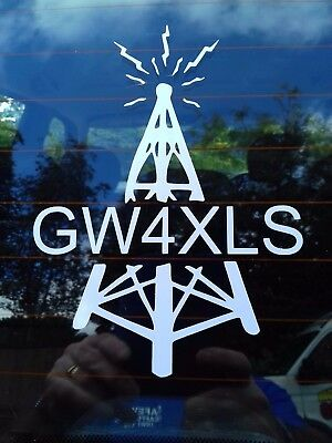 Tower Call Sign Decal Sticker For Your Car Shack Wall Ham Amateur Radio