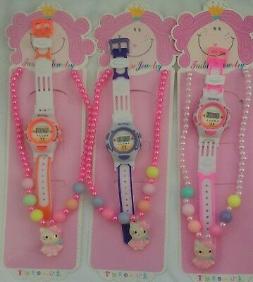 wholesale Joblot of 6Pc Kids Watches & Necklaces Girl Children New Design