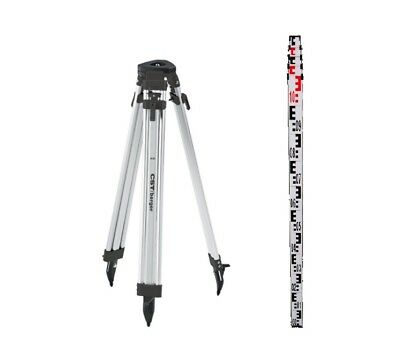 CST Aluminum Tripod & 4M metric Rod Kit for Auto Level & Rotating Laser