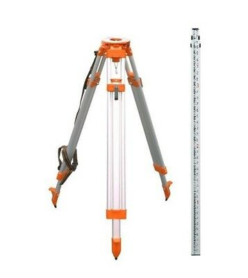 CST Aluminum Tripod & 8ft Rod Kit for Auto Level and Rotating Laser