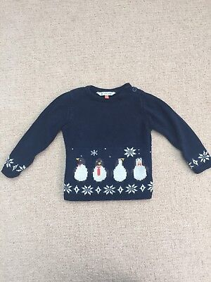 John Lewis Girls Christmas Jumper 9-12 Months