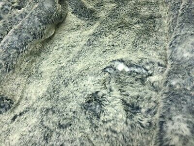 Super Luxury Faux Fur Fabric Material - SUPER SOFT BLUE FROST