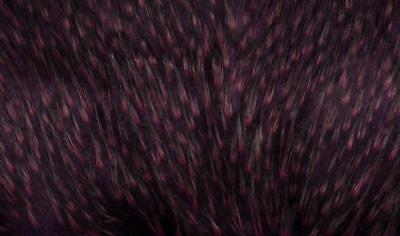 Super Luxury Faux Fur Fabric Material - LONG PURPLE PINK FLECK