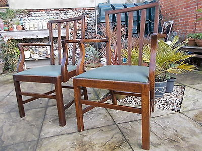 Two Vintage Oak Carver Chairs- 1920's- 30's