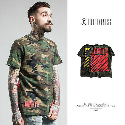 New Camouflage Men T-Shirt Striped Letters Printed Short Sleeve Tee Shirts M-XXL