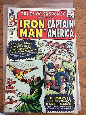Iron Man and Captain America tales of suspense 61 1965 V/VG