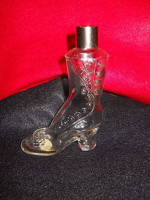 Avon Glass Boot Perfume Cologne Bottle Container Empty