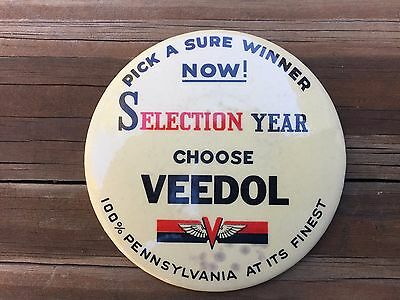 Vintage Pennsylvania Veedol Pin for Election Year