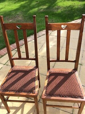 Arts and Crafts Pair Liberty & Co Oak Chairs